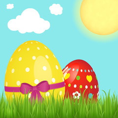 Happy Easter vector graphic web banner