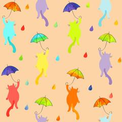 flying gentle cats pattern