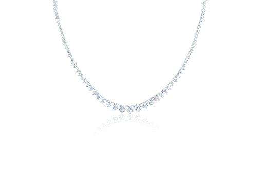 Beautiful Diamond Necklace isolated on white