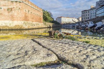 Livorno,fosso Reale zona Fortezza Nuova.