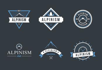 Logo set for Alpinism