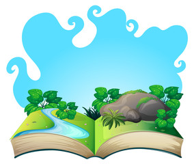 Book with nature scene