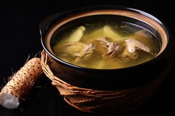 wild yam stew pigeon soup