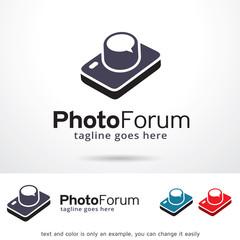 Photo Forum Logo Template Design Vector