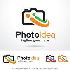 Photo Idea Logo Template Design Vector