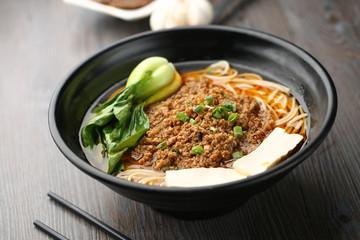 minced meat soup noodle