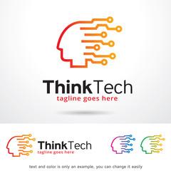 Think Tech Logo Template Design Vector