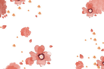 Creative Illustration and Innovative Art: Flowers. Realistic Fantastic Cartoon Style Artwork Scene, Wallpaper, Story Background, Card Design