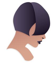 Ragazza capelli corti