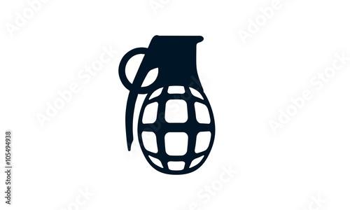 grenade explosion vector logo design stock image and royalty free rh fotolia com Rose Vector Hand Grenade Drawing