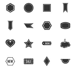 New stiker and label set icons
