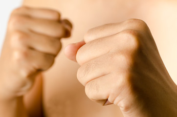 Man's fist,hand,fighting concept