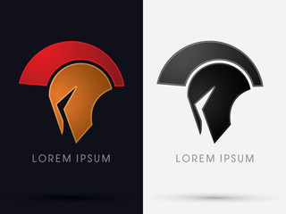 Roman or Greek Helmet , Spartan Helmet, Head protection, warrior graphic vector