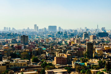Cairo (Egypt) city view photo,beautiful view on the capital with