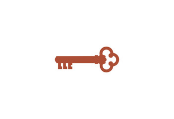 Old Key with retro color logo