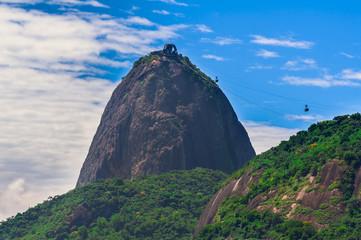 Mountain Sugar Loaf and Urca in Rio de Janeiro. Brazil