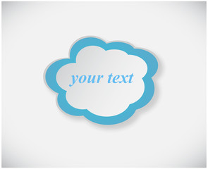 Blue Chat or idea cloud isolated