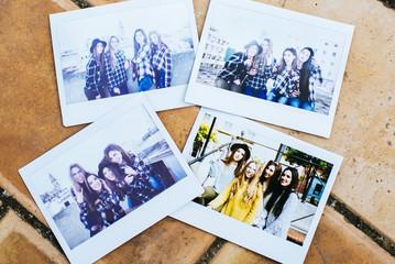 Polaroids of Young Girls Having Fun Outdoors