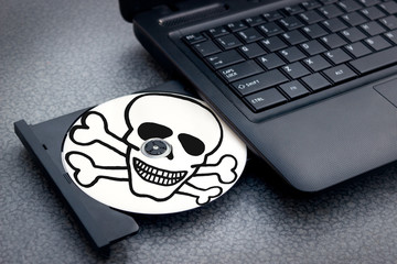 Pirated disc in notebook