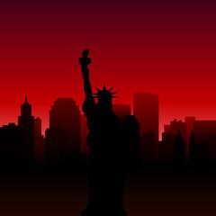New York city silhouette. Vector illustration