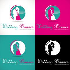logo mariage couple organisation