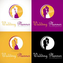 logo mariage organisation couple