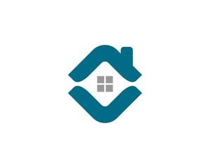 Real Estate Diamond Shape Roof Logo