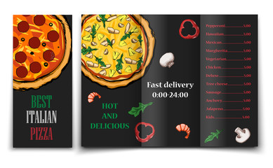 pizza food menu cafe brochure