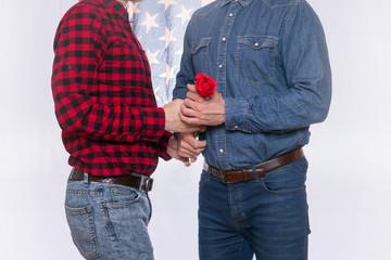 American gay couple