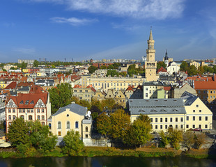 Opole - The historic city center with the town hall. Poland