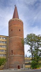 Opole, Piast tower, built circa 1300, southern Poland