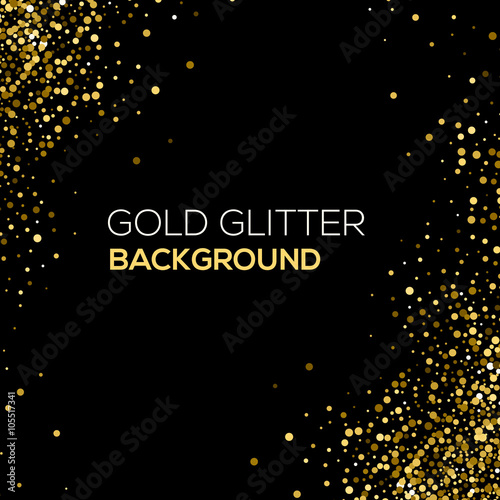 quotgold confetti glitter on black background abstract gold