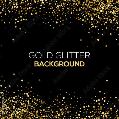 Quot Gold Confetti Glitter On Black Background Abstract Gold