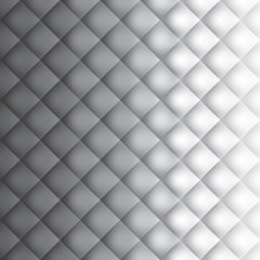 Grey squares background, pattern rhombs, mesh gradient wallpaper, transition from light to dark, vector design background
