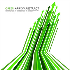 Green arrow line striped sharp vector abstract background