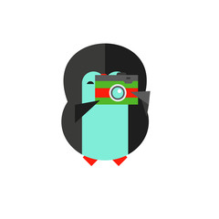 Penguin with camera icon
