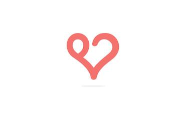 love human abstract logo