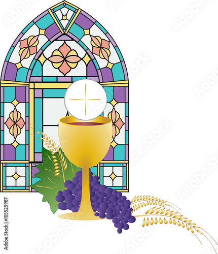 Quot Eucharist Symbol Of Bread And Wine Chalice And Host