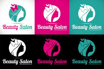 logo salon beauté coiffure esthétique