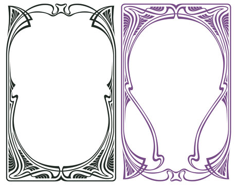 Vector abstract framework from the bound flowers and plants