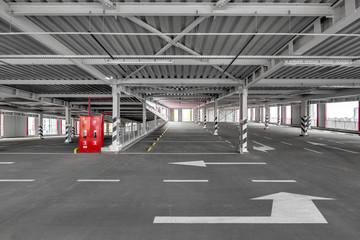 Multi Level Public Parking Space. City Parking