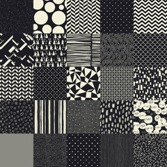 25 seamless different vector patterns.