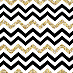 Chevron seamless pattern. Glittering golden surface