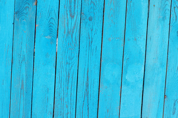 Blue bright  textural wooden background