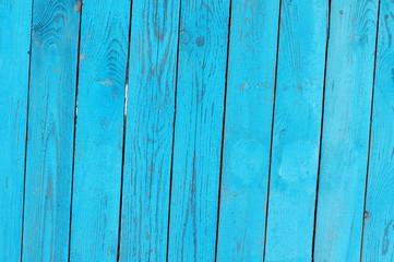 Blue bright  textural wooden background