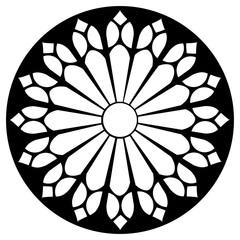 Gothic rosette window pattern, vector illustration