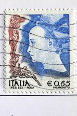 Italienische Briefmarke gestempelt