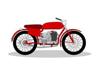 Wall Mural - vintage motorbike illustration on white