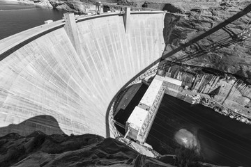 Printed kitchen splashbacks Dam Glen Canyon Dam Arizona Black and White