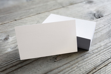 Business cards blank mock up
